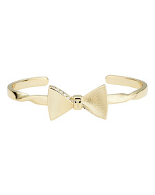 Ted Baker Womens Gold Tulisaa Crystal Tux Bow Cuff