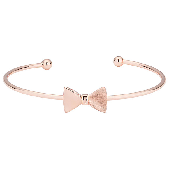Ted Baker Womens Pink Tarsha Tux Bow Fine Cuff main image