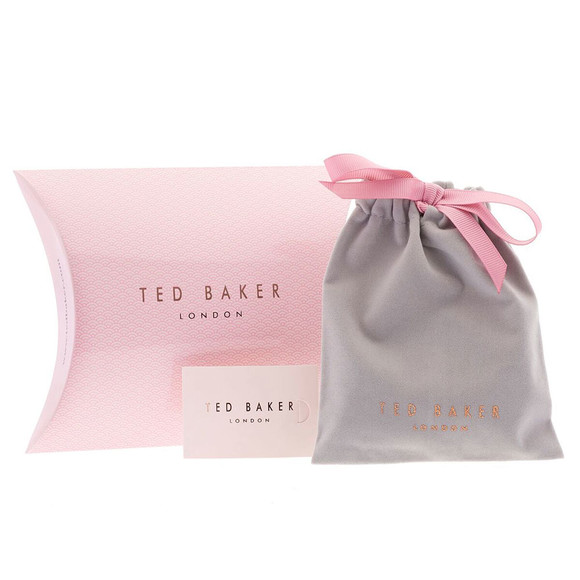 Ted Baker Womens Silver Tulisaa Crystal Tux Bow Cuff main image