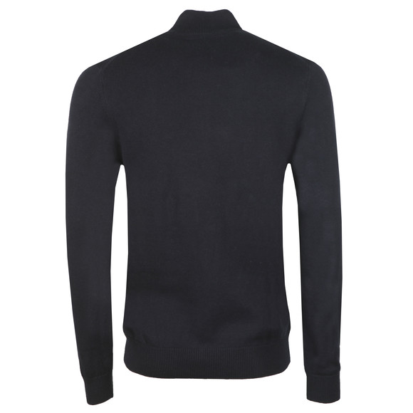 Crew Clothing Company Mens Blue Classic 1/2 Zip Knit main image