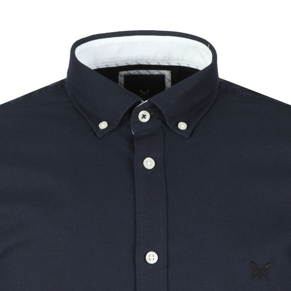 Crew Clothing Company Mens Blue Slim Oxford Shirt main image