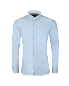 Crew Clothing Company Mens Blue Slim Oxford Shirt