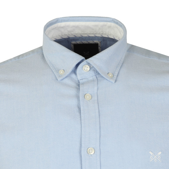 Crew Clothing Company Mens Blue Slim Oxford Shirt main image