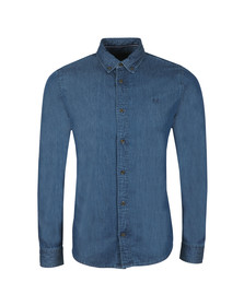 Crew Clothing Company Mens Blue Darwell Denim Slim Shirt