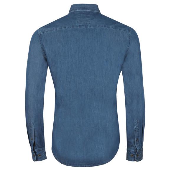 Crew Clothing Company Mens Blue Darwell Denim Slim Shirt main image