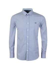 Crew Clothing Company Mens Blue Classic Stripe Shirt
