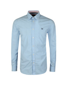 Crew Clothing Company Mens Blue Classic Stripe Shirt