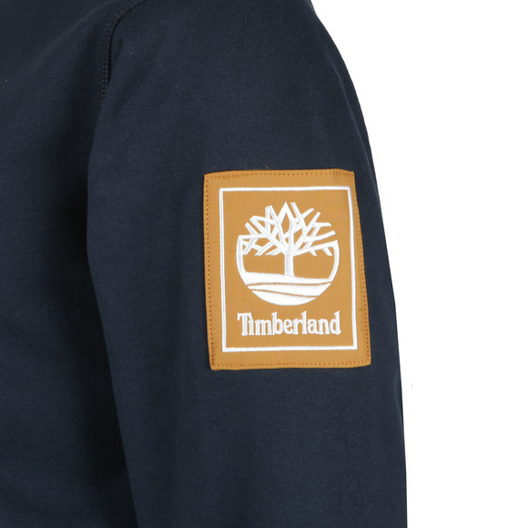 Timberland Mens Blue 1/2 Zip Media Mix Sweat main image
