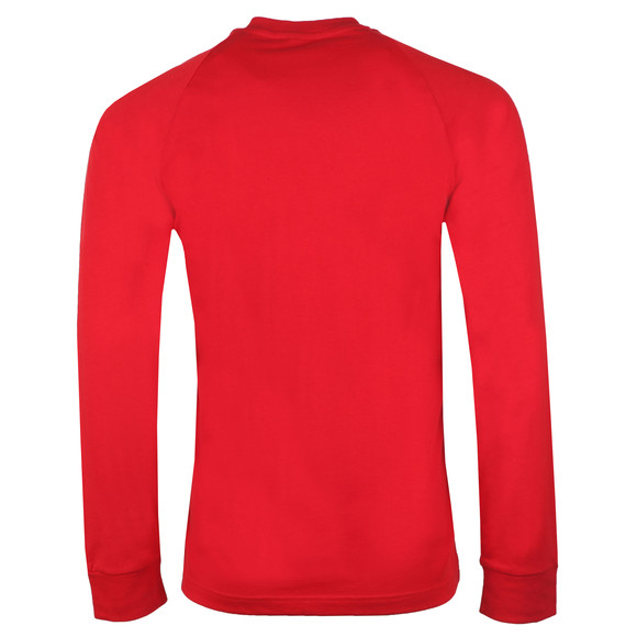 adidas Originals Mens Red 3 Stripes L/S Tee main image