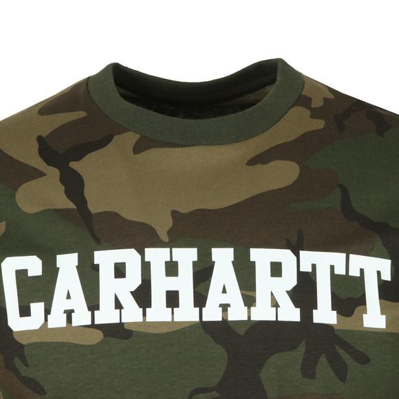 Carhartt WIP Mens Green Carhartt College Crew Tee main image