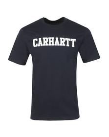 Carhartt WIP Mens Blue Carhartt College Crew T-Shirt
