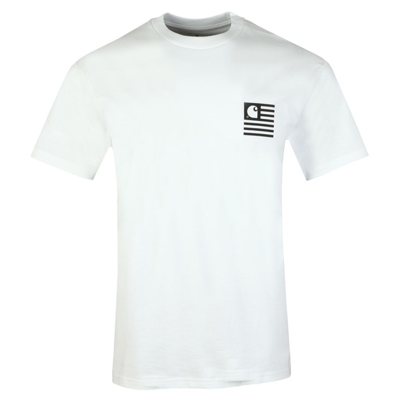 Carhartt WIP Mens White State Patch T Shirt main image
