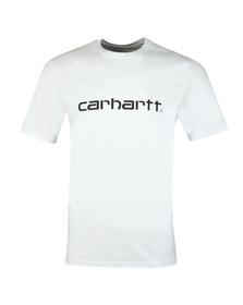 Carhartt WIP Mens White Script T Shirt