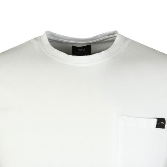 Edwin Mens White Pocket Crew T-Shirt main image