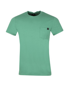 Edwin Mens Green Pocket Crew T-Shirt
