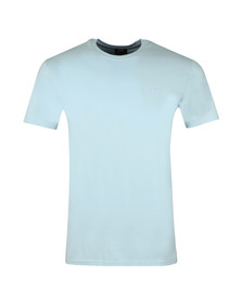 Edwin Mens Blue Edwin Logo Chest T Shirt