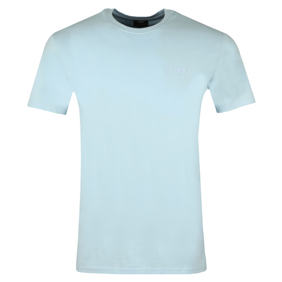 Edwin Mens Blue Edwin Logo Chest T Shirt main image