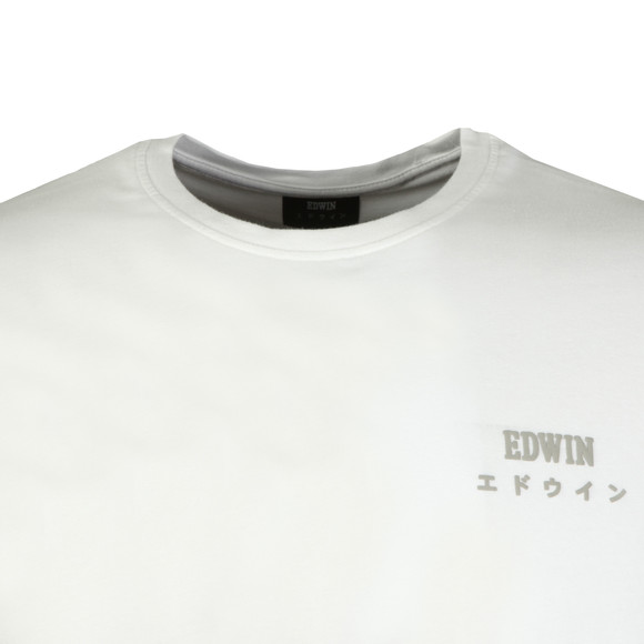 Edwin Mens White Edwin Logo Chest T Shirt main image