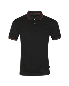 PS Paul Smith Mens Black Tipped Collar and Cuff Polo
