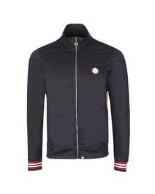 Pretty Green Mens Blue Rib Stripe Track Top