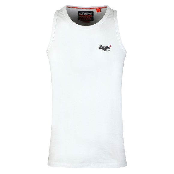 Superdry Mens White Vintage Embroider Vest main image