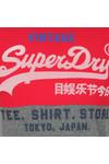 Superdry Mens Red Shirt Shop Tri Panel Tee