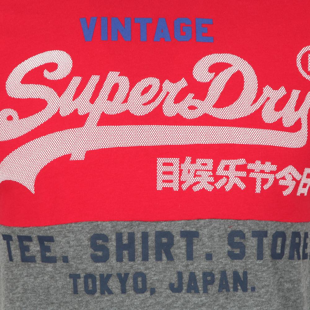Superdry Mens Logo Shirt Shop Tri Panel T-Shirt
