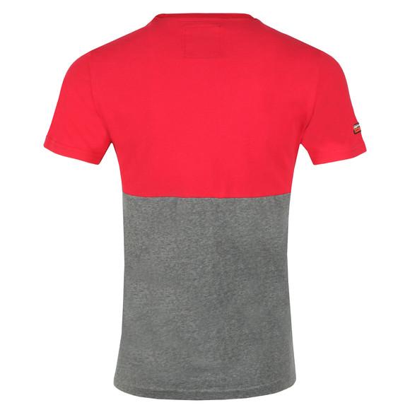 Superdry Mens Red Shirt Shop Tri Panel Tee main image