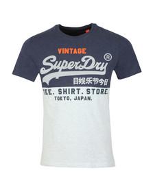 Superdry Mens Blue Shirt Shop Tri Panel Tee