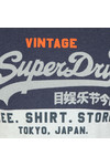 Superdry Mens Blue Shirt Shop Tri Panel Tee