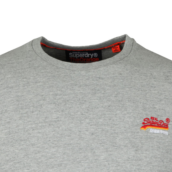 Superdry Mens Grey Vintage Embroider T-Shirt main image