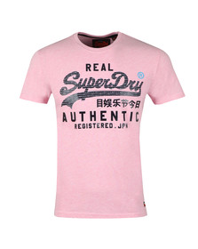 Superdry Mens Red Authentic Pastel Tee