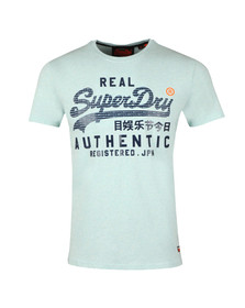Superdry Mens Green Authentic Pastel Tee