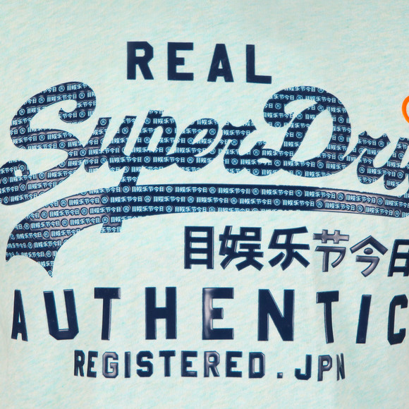 Superdry Mens Green Authentic Pastel Tee main image