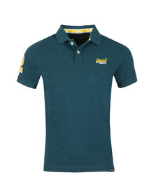 Superdry Mens Green Classic Pique Polo