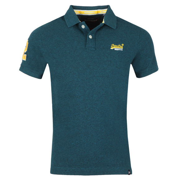 Superdry Mens Green Classic Pique Polo main image