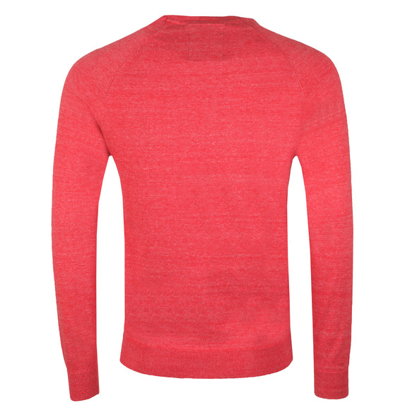 Superdry Mens Red Cotton Crew Jumper main image
