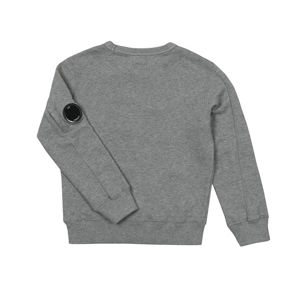 C.P. Company Undersixteen Boys Grey Logo Viewfinder Sleeve Fleece Sweatshirt main image