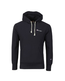 Champion Reverse Weave Mens Blue Small Logo Overhead Hoody