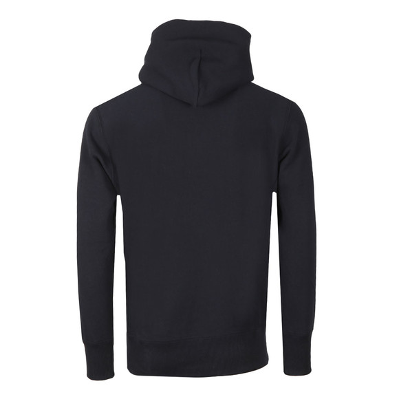Champion Reverse Weave Mens Blue Small Logo Overhead Hoody main image