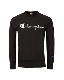 Champion Mens Black Reverse Weave Script Logo Sweatshirt
