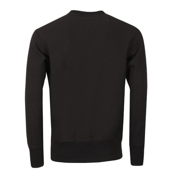 Champion Reverse Weave Mens Black Script Logo Sweatshirt main image