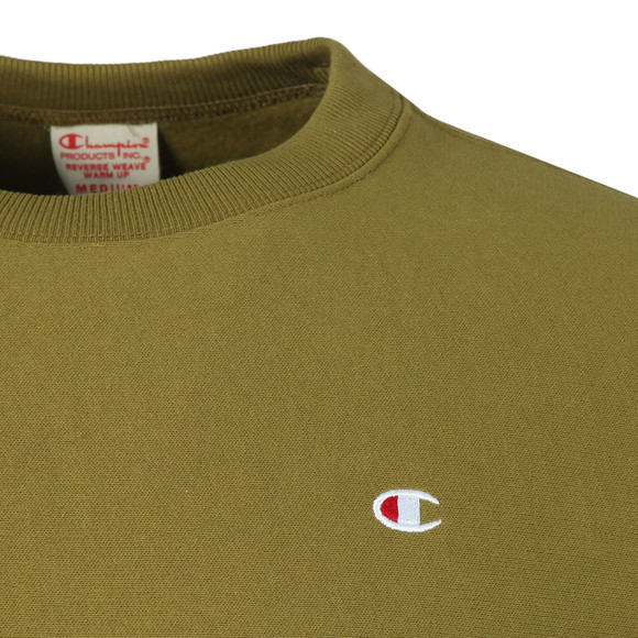Champion Mens Green Reverse Weave Small Logo Sweatshirt main image