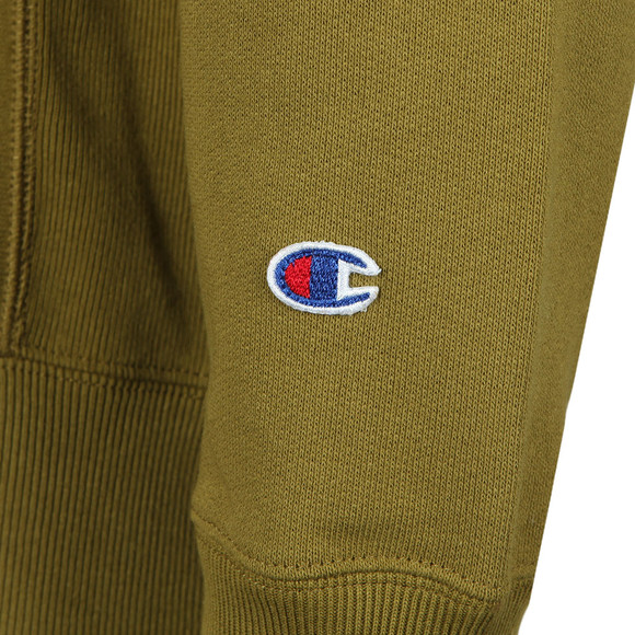 Champion Reverse Weave Mens Beige Small Logo Sweatshirt main image