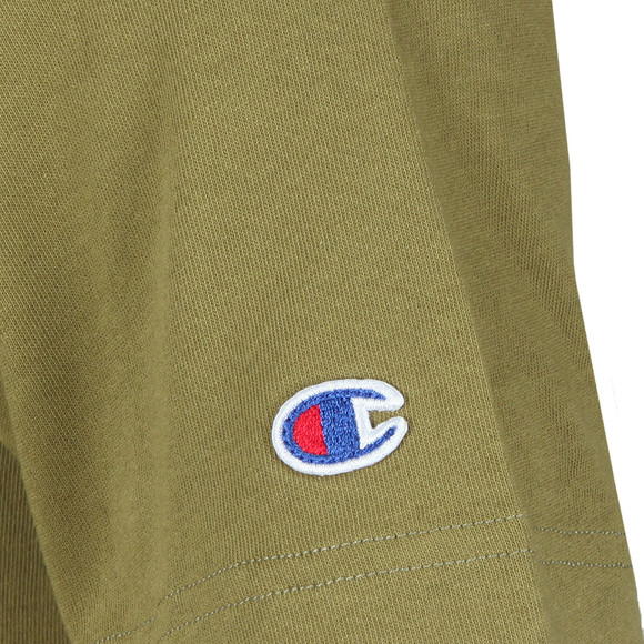 Champion Reverse Weave Mens Green Script Logo T-Shirt main image