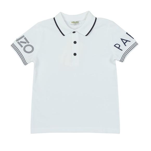 Kenzo Kids Boys White Sleeve Logo Polo Shirt main image