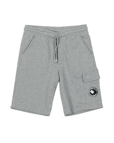 C.P. Company Undersixteen Boys Grey Viewfinder Pocket Jersey Shorts