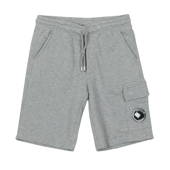 C.P. Company Undersixteen Boys Grey Viewfinder Pocket Jersey Shorts main image