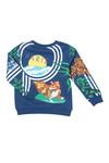 Kenzo Kids Boys Blue Ferdy Hawai Kenzo Sweatshirt