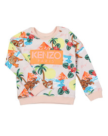 Kenzo Kids Girls Pink Fancy Hawai Kenzo Sweat